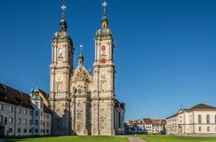 Sikt på Abbey Cathedral av StGallen - Schweiz Arkivfoto