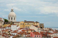 Sikt på Alafama, Lissabon Royaltyfri Bild