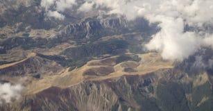 Sikt på albanska berg Arkivbild