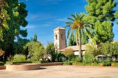 Sikt på Alhambra, Granada Arkivfoto