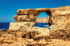 Sikt på Azure Window i Malta Royaltyfria Bilder