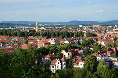 Sikt på Bamberg Arkivfoto