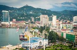 Sikt på Batumi havsport arkivfoto
