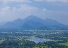 Sikt på berg på Sri Lanka Royaltyfria Bilder
