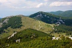 Sikt på bergen Arkivfoton