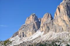 Sikt på bergmaximumet av Val Gardena, Italien Royaltyfri Fotografi