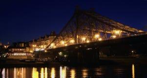 Sikt på bron Arkivfoto
