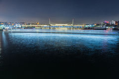 Sikt på bron i Istanbul Arkivbild