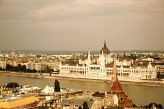 Sikt på Budapest Royaltyfria Bilder