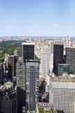 Sikt på Central Park och Manhatten, New York, Förenta staterna Arkivfoto