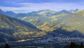 Sikt på Chablais, Schweiz Arkivfoto