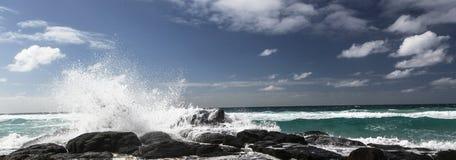 Sikt på Champagne Pools på Fraser Island, Australien royaltyfri bild