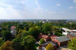 Sikt på Chorzow, Polen Arkivbild