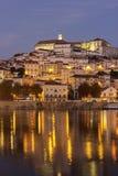 Sikt på Coimbra i Portugal Arkivbild
