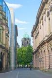 Sikt på den Berlin Cathedral kyrkan, Tyskland Royaltyfri Bild