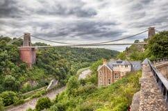 Sikt på den Bristol bron Royaltyfri Fotografi