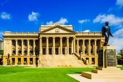 Sikt på den gamla parlamentet som bygger Colombo, Sri Lanka royaltyfri foto
