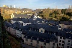 Sikt på den gamla staden av Luxembourg Arkivfoton