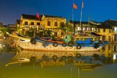 Sikt på den gammala townen av Hoi. Vietnam Fotografering för Bildbyråer