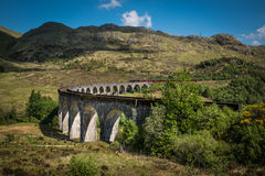 Sikt på den Glenfinnan viadukten Arkivfoto