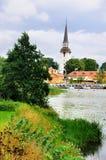 Sikt på den Gripsholm byn, Sverige Royaltyfri Foto