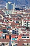 Sikt på den Hengdian staden, Kina Royaltyfria Bilder