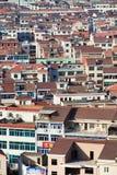 Sikt på den Hengdian staden, Kina Royaltyfri Foto