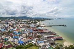 Sikt på den Hua Hin staden Royaltyfri Fotografi