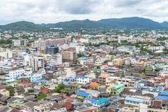 Sikt på den Hua Hin staden Royaltyfri Foto