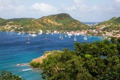Sikt på den karibiska ön Martinique. Royaltyfri Bild