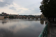 Sikt på den Karls bron Royaltyfri Fotografi
