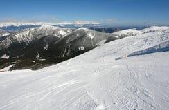 Sikt på den låga Tatrasen Royaltyfri Bild