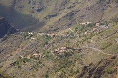 Sikt på den Masca byn, Tenerife Arkivfoto