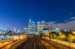 Sikt på den Melbourne panoraman Arkivfoton