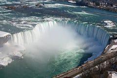 Sikt på den Niagara nedgången Fotografering för Bildbyråer