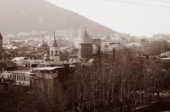 Sikt på den Tbilisi staden Arkivbilder
