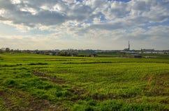 Sikt på den Tychy staden i Polen royaltyfria foton
