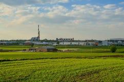 Sikt på den Tychy staden i Polen Fotografering för Bildbyråer