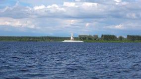 Sikt på den Volga för monument`-moder `en på den Rybinsk behållaren Rybinsk Yaroslavl region lager videofilmer