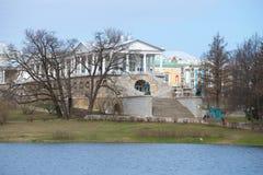 Sikt på det Cameron gallerit, april dag russia selotsarskoye Royaltyfria Bilder