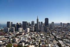 Sikt på det finansiella området, i stadens centrum San Francisco Fotografering för Bildbyråer