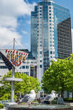 Sikt på det Kanada stället i i stadens centrum Vancouver. Royaltyfria Foton