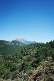 Sikt på det Tahtali Dagi berget Lycian väg igen arkivbilder