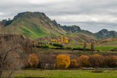 Sikt på det Te Mata maximumet och Tukituki River Valley Royaltyfria Foton
