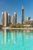 Sikt på Dubai som är i stadens centrum på den Dubai gallerian Royaltyfria Foton