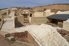 Sikt på Ebla, Syrien var tenthousands av claytablets fanns Fotografering för Bildbyråer