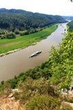 Sikt på Elbe royaltyfri bild
