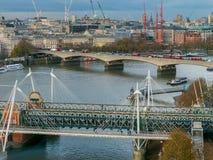 Sikt på en del av London, UK arkivfoton