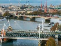 Sikt på en del av London, UK arkivfoto