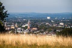 Sikt på en stad av Bonn royaltyfri bild